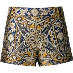 Alice & Olivia brocade shorts